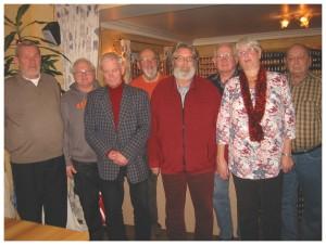 Von Links nach rechts: Heinz Müller, Julius Schmidt, Gerhard Stamm, Gerd Isselbächer, Helmut Sterzenbach, Manfred Rücker, Gisela Heckelmann, Heinz Stöber. Es fehlt Elke Baccari
