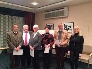 v.l.n.r.: Heinz Schultheis, Winfried Feige, Waltraud Fabritz, Anita Buckard, Robert Trier, Evamaria Roth